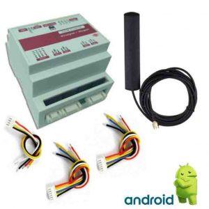 کنترلر پیامکی 4 کاناله + 4 ورودی // ساده
