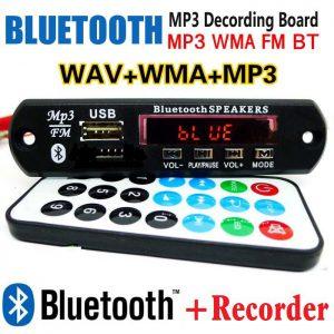 پنل بلوتوثی پخش کننده MP3 پشتیبانی از MicroSD و USB با ریموت کنترل